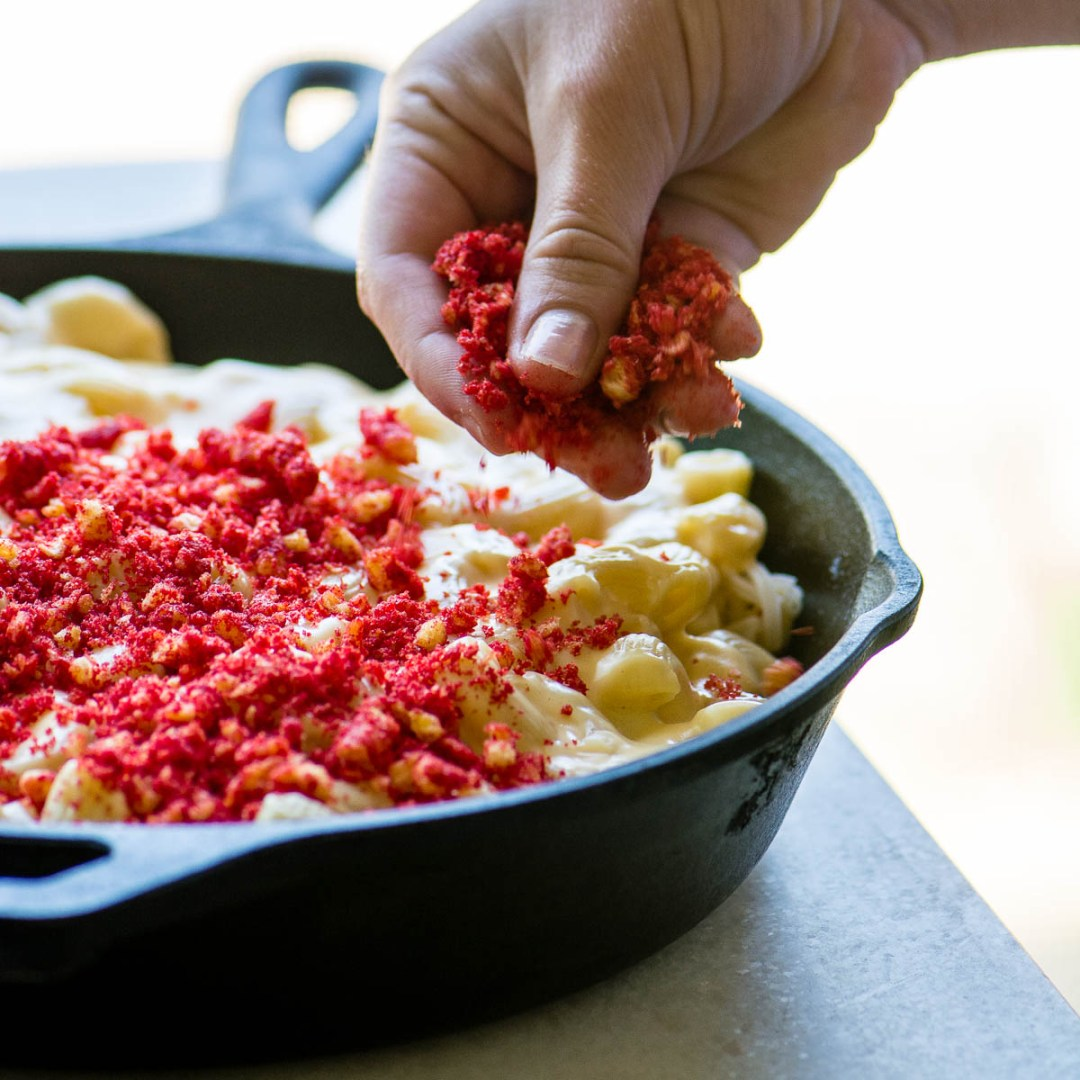 Making Flamin' Hot Cheetos Macaroni and Cheese