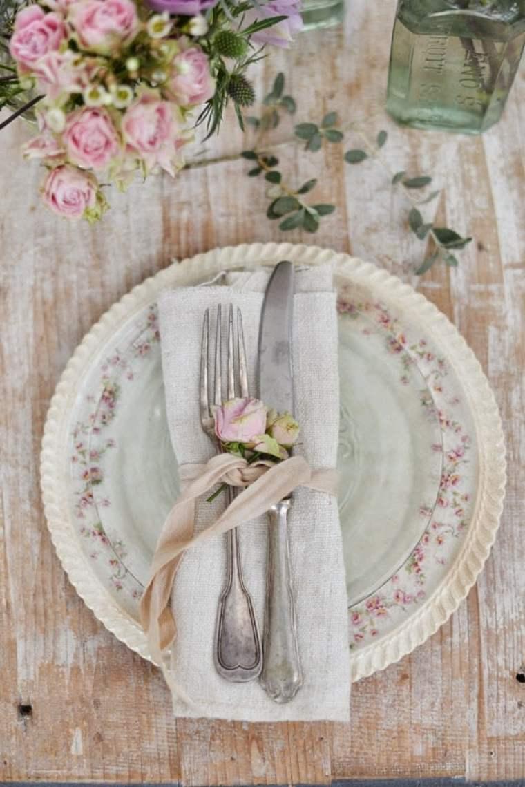 Romantic pink table setting