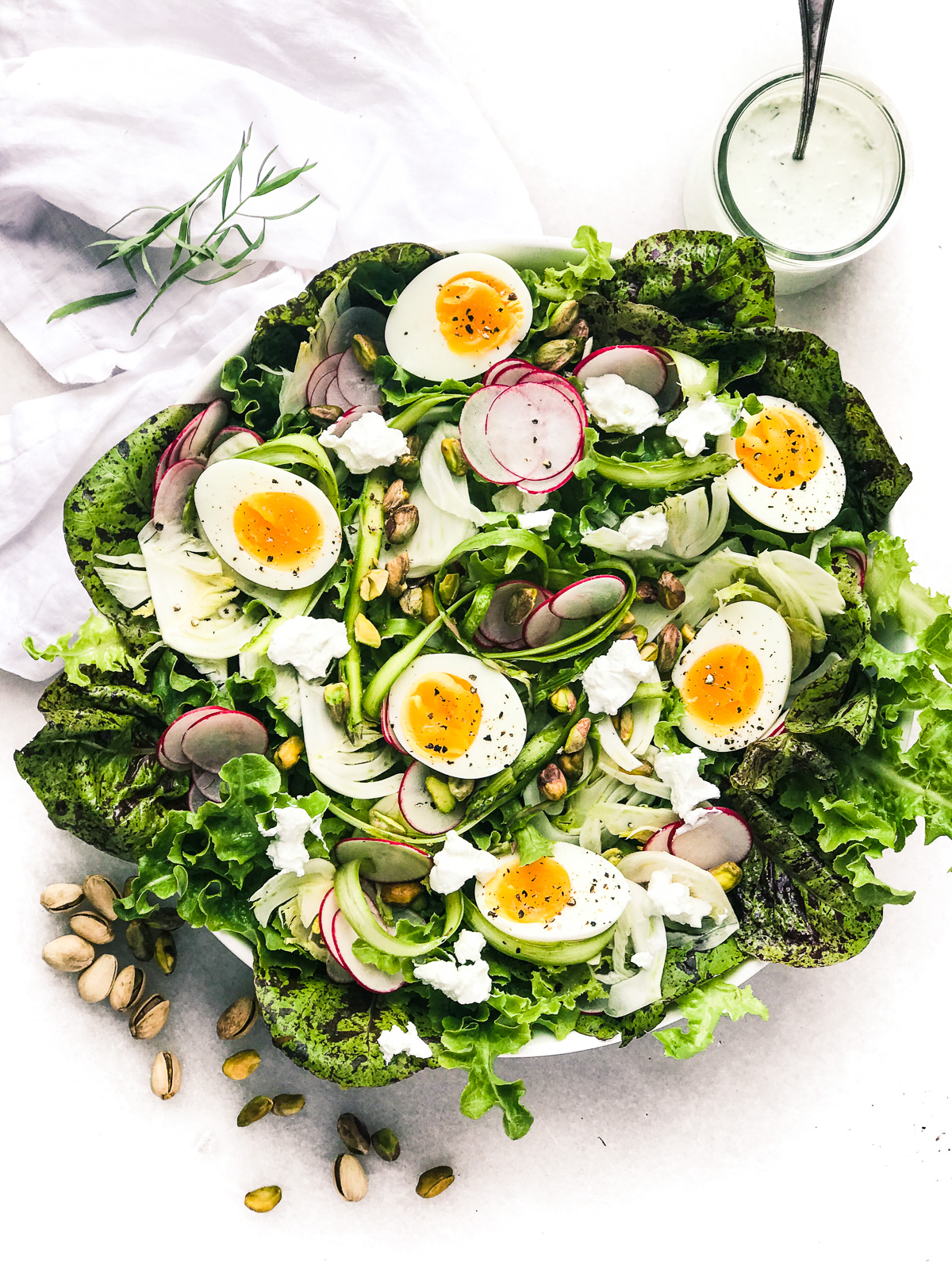 2. Spring Salad with Eggs and Creamy Tarragon Dressing