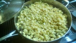 4 - add diced potatoes