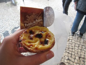 Pastéis de Belém, a custard tart that definitely lived up to the hype!