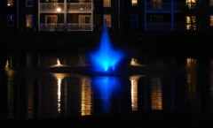 Blue Water Fountain