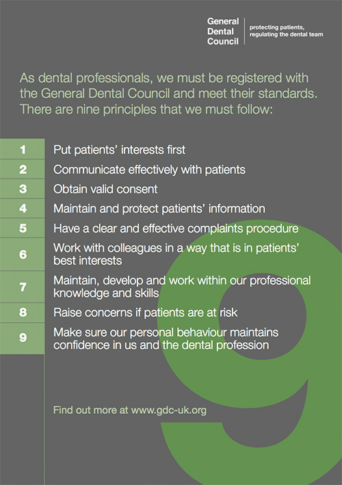 GDC Standards  The Village Dental Practice