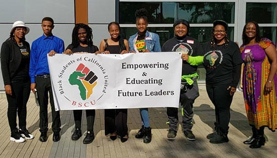 TVM attends the Black Students of California United annual leadership conference.