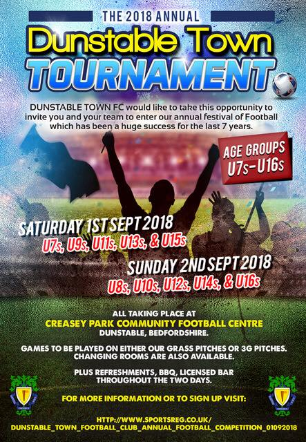 Dunstable Town Football Tournament