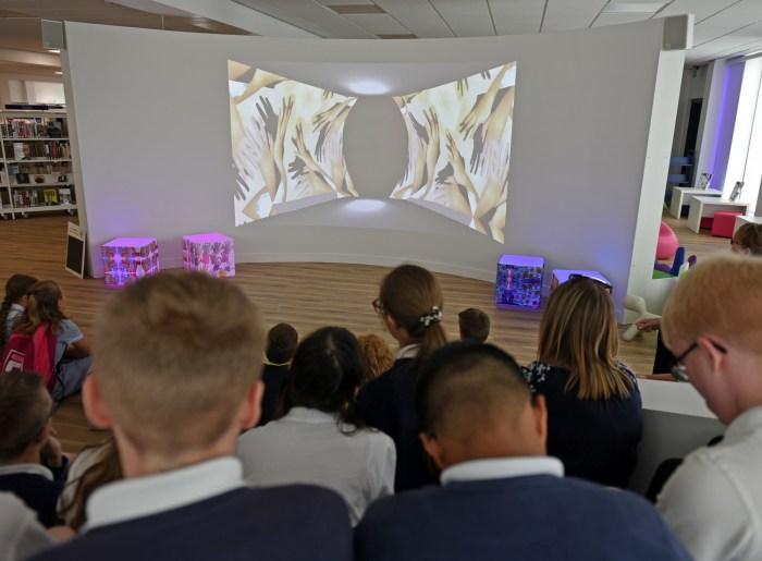 Digital Fingerprint Artwork Unveiled At New Dunstable Library