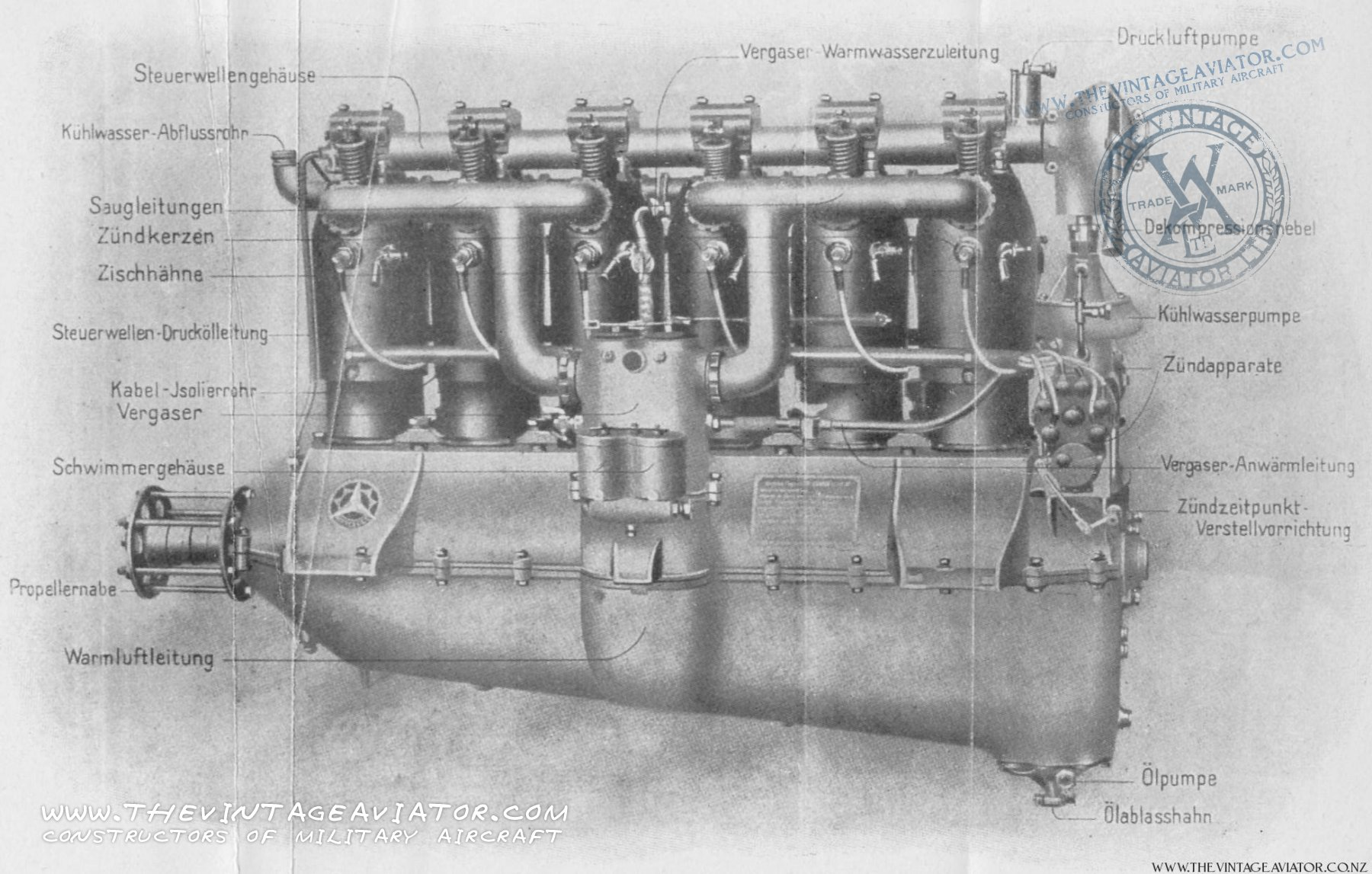 hight resolution of mercedes 180hp diiia engine