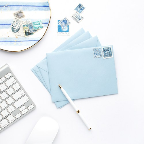 Styled Blue Stationery