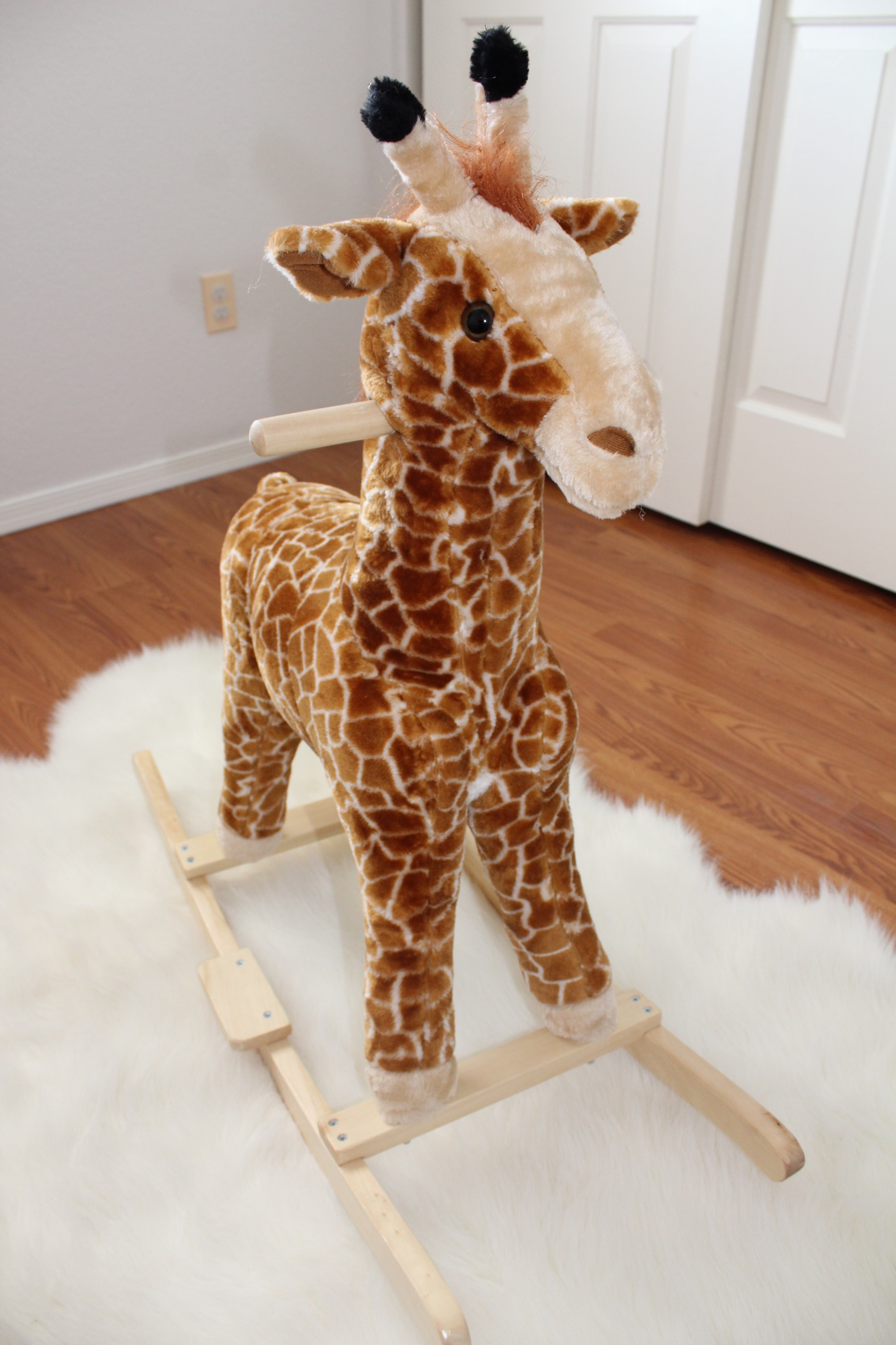 Giraffe Rocking Chair Nursery Reveal The Vintage Blonde