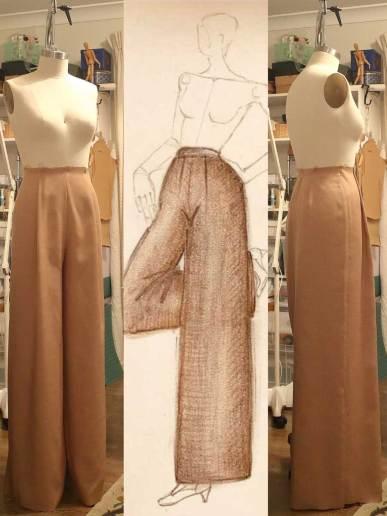 1930's Inspired Beach Pyjama Pants Design