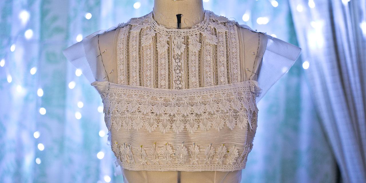 Making a Silk Satin Organza Edwardian Inspired Blouse