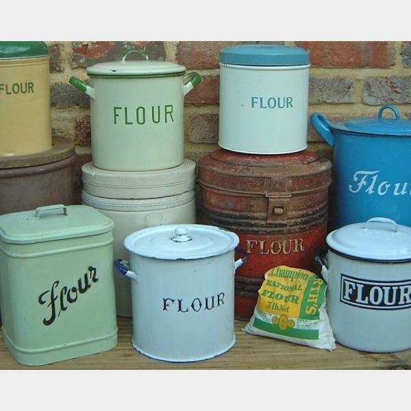 Flour  sugar bins  The Vintage Kitchen Store
