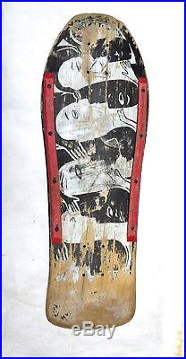 Vintage Used 1987 Neil Blender GampS Faces Skateboard Deck With Rails Vintage Longboards