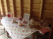 Vintage sweety table hire