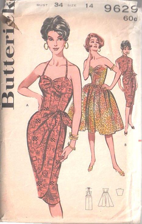 Sarong Pattern : sarong, pattern, Vintage, Sewing, Pattern, DRESS, SARONG, JACKET, (1498)