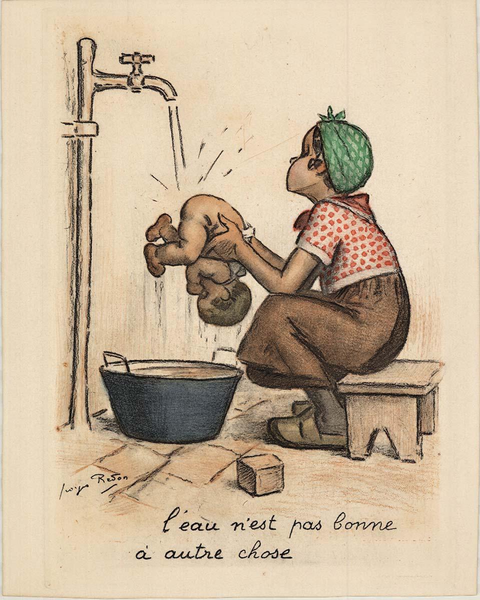 Ce N'est Que De L'eau : n'est, l'eau, L'eau, N'est, Bonne, Autre, Chose, Georges, Redon, Vintage, Poster