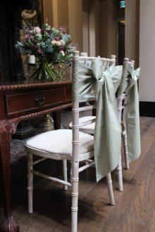 Sage Green polka dot sashes at Kings Weston House by The Vintage Sash Company