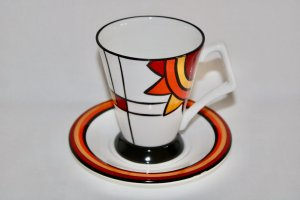 JAZZ Art Deco Mug and Saucer