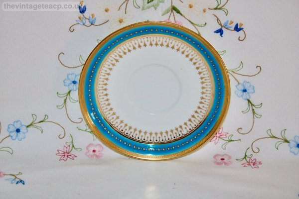 Minton Turquoise Gold coffee can