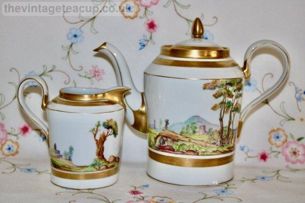 Paris Teapot and Milk Jug
