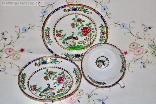 Spode Peacock Trio Regency period 1815 - 1825