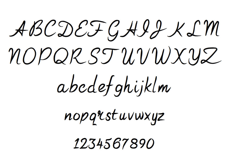 Handwritten Fancy Font The Vinyl Cut