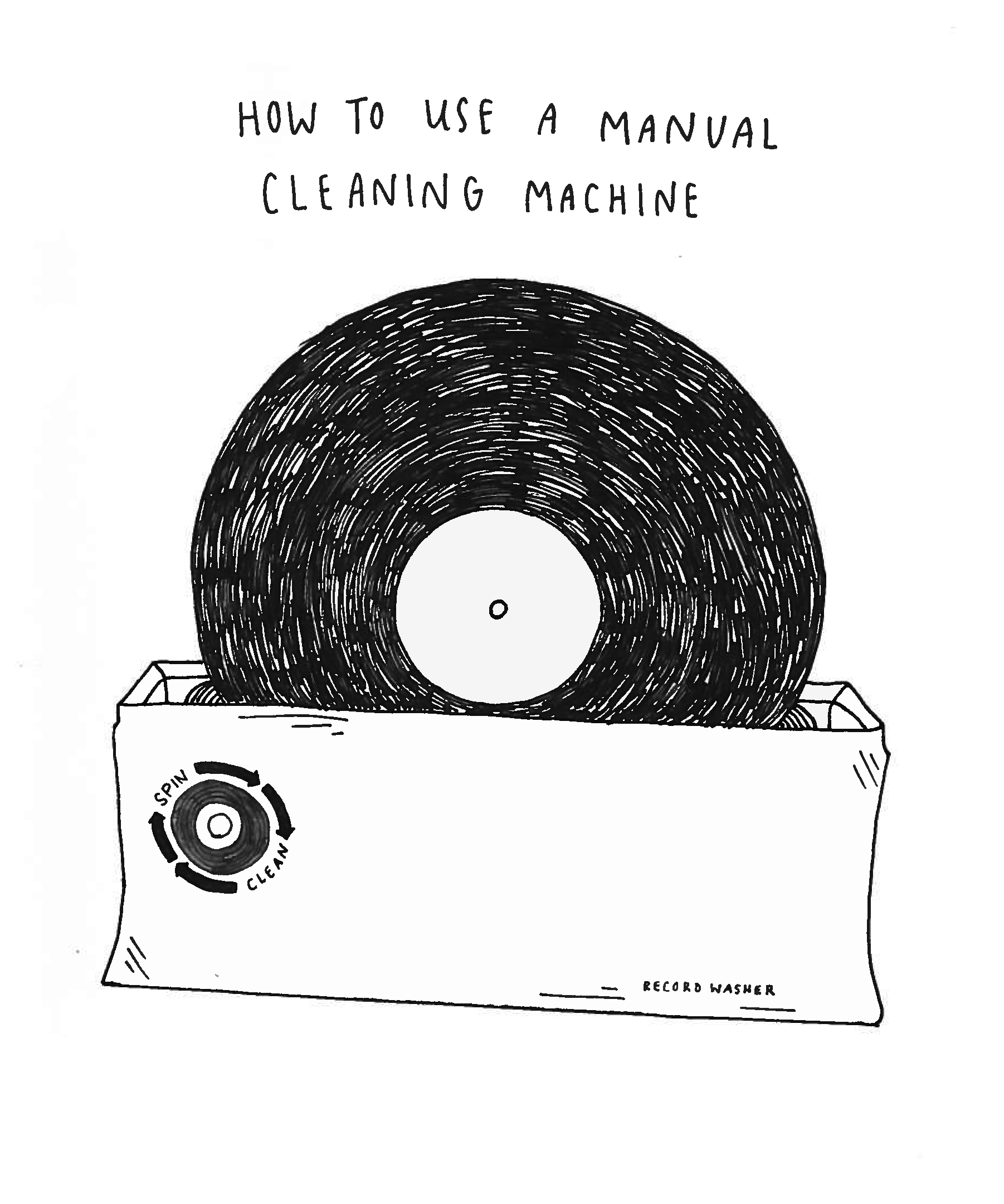 Vinyl FAQ 05: How to use a manual cleaning machine