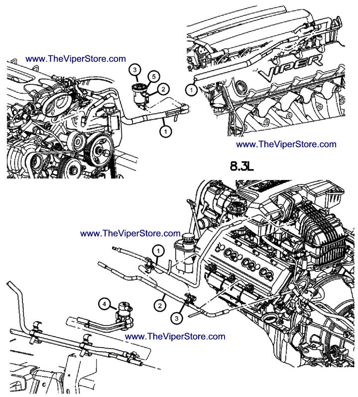 RAM SRT10 2004-2006 Factory Parts Diagrams Emission Controls