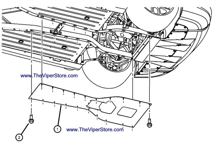 Viper 2003-2005 Factory Parts Diagram Skid Plate