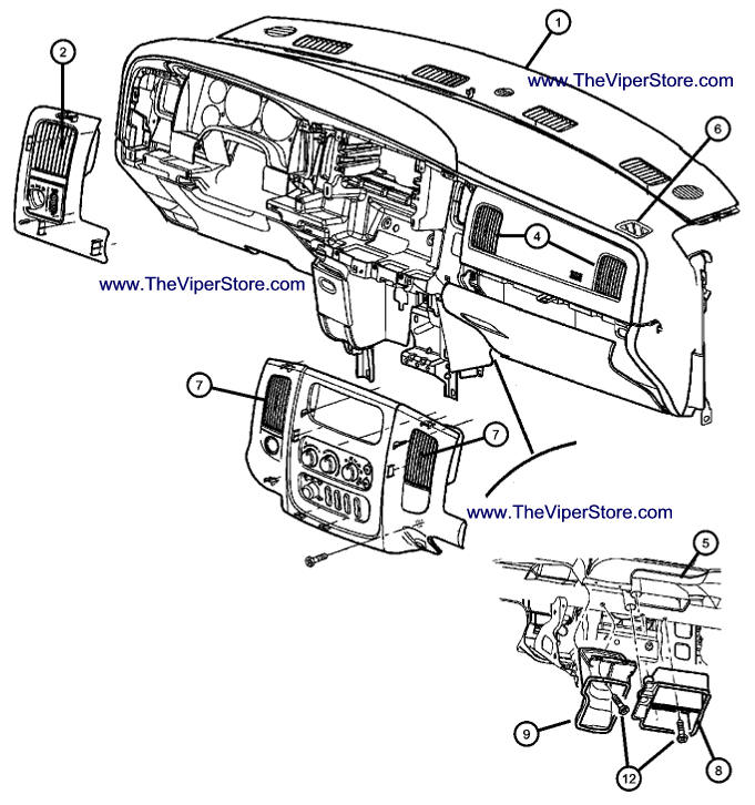 RAM SRT10 2004-2006 Factory Parts Diagrams Interior Air