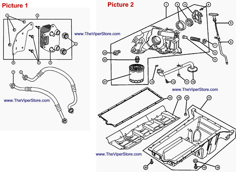 RAM SRT10 2004-2006 Factory Parts Diagrams Engine Oiling