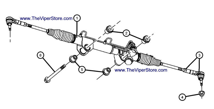 RAM SRT10 2004-2006 Factory Parts Diagrams Rack & Pinion