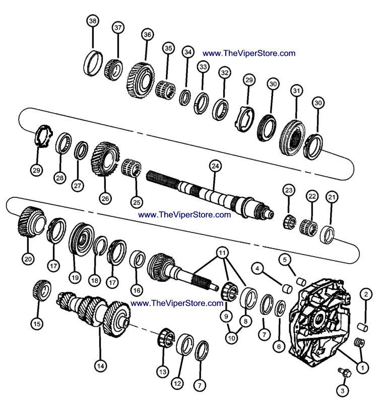 Viper 2003-2005 Factory Parts Diagram Transmission Input
