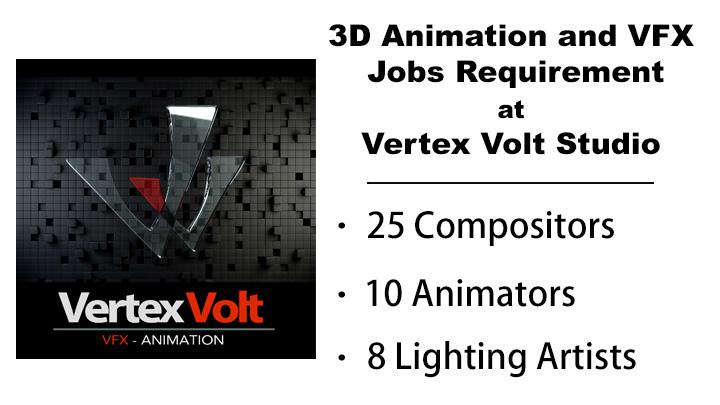 animation and vfx jobs opening vertex volt studio