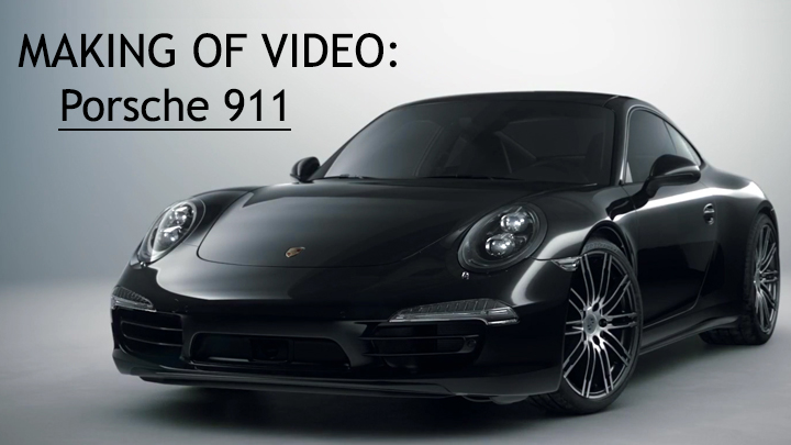 enjoy the making of live action and cgi blended porsche 911 carrera black edition
