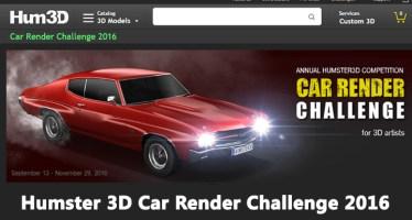 Car Rendering challenge Humster3D