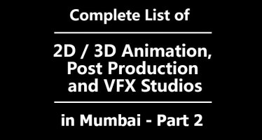 Animation production studio's names in Mumbai