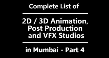 list of 3d animation studios in mumbai