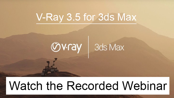 vray webinar for 3ds max