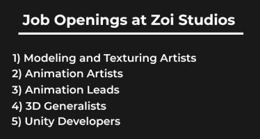 job openings zoi studios