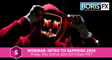Intro to Sapphire 2019 webinar boris fx