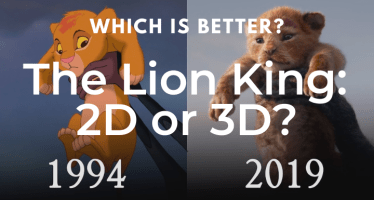 The Lion King 2D or 3D comparison
