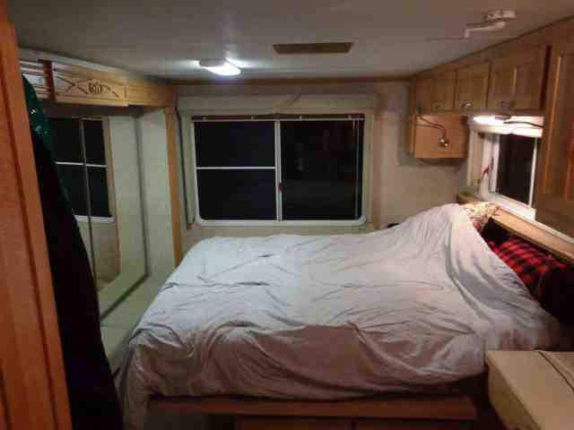 bedroom view of the RV