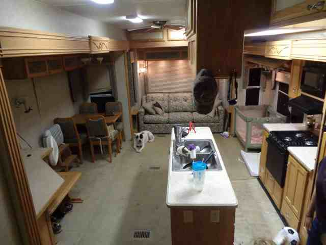 full view of living area in RV