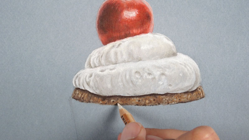 How To Draw A Realistic Cupcake With Colored Pencils And