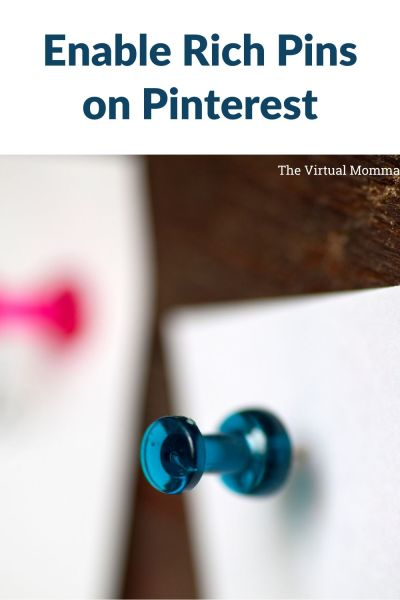 How to enable rich pins by the virtual momma