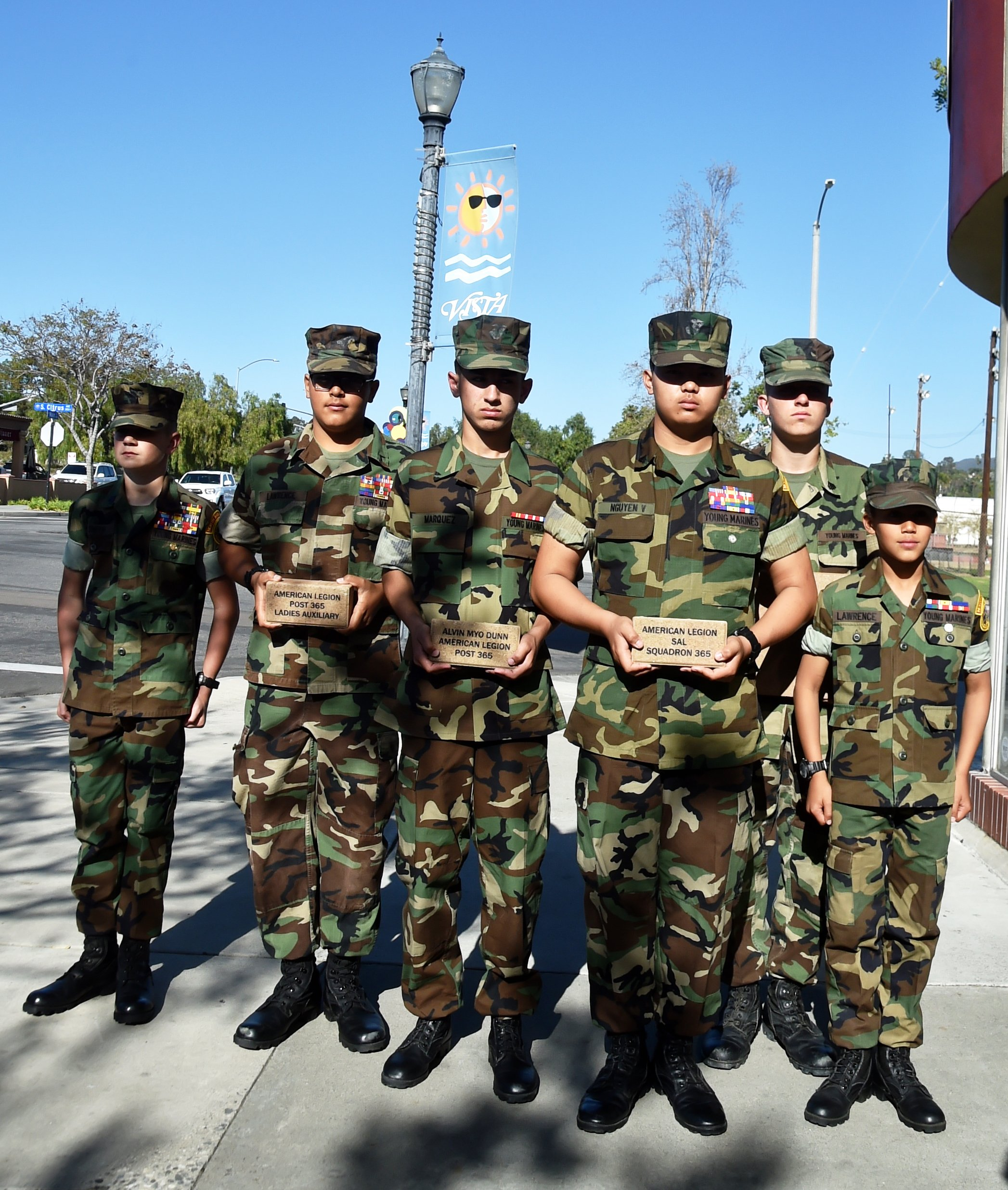 Paver Fundraiser Draws Mayor and Young Marines  The Vista