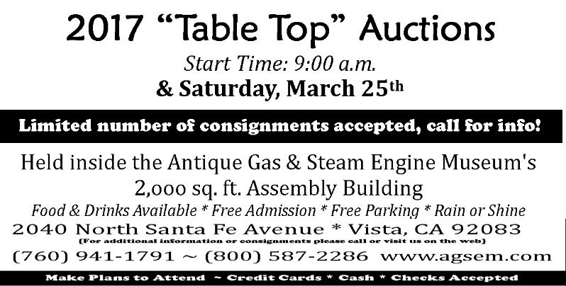 Antique & Collectible Table Top Auction At Antique Gas