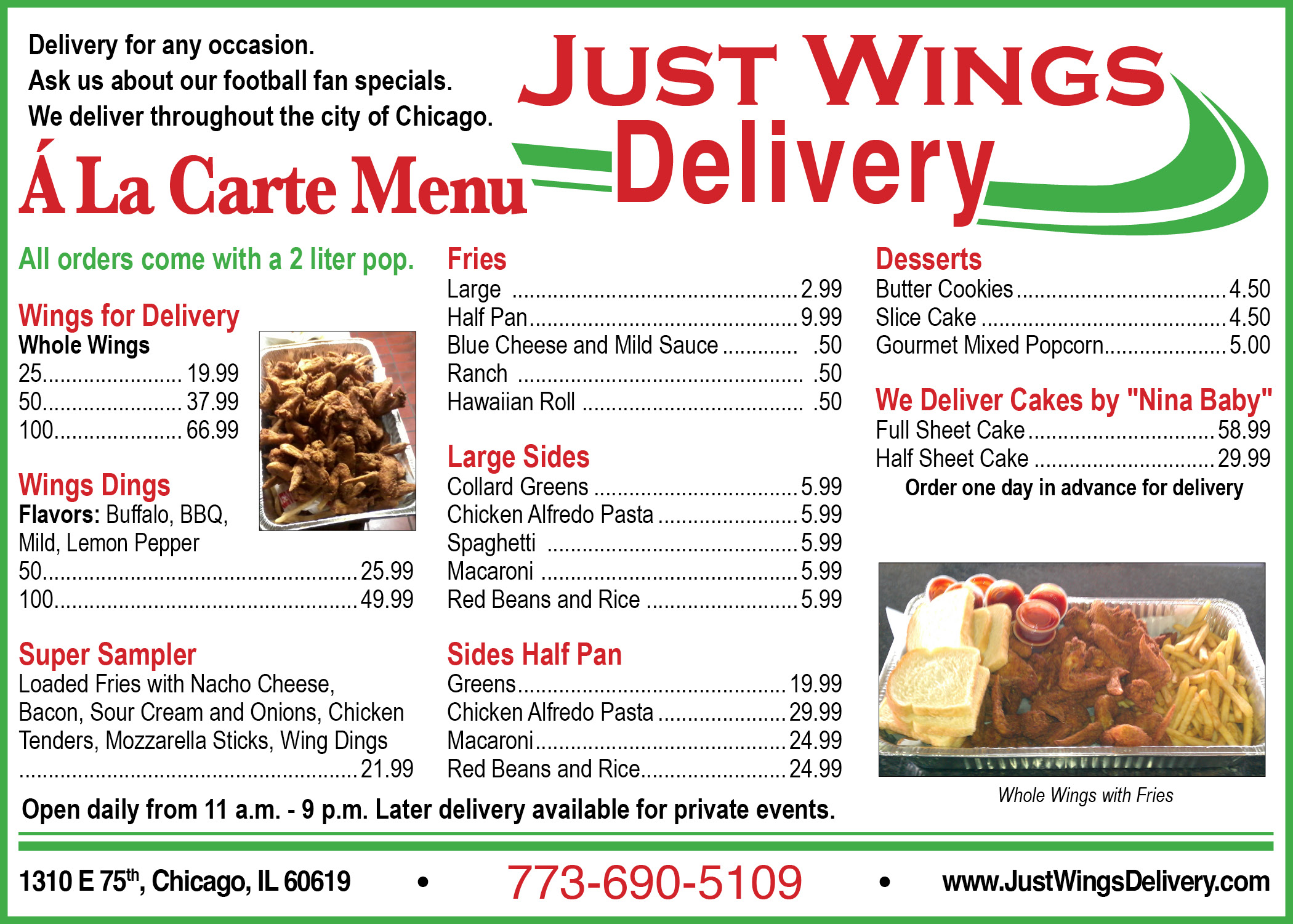 Just Wings Delivery