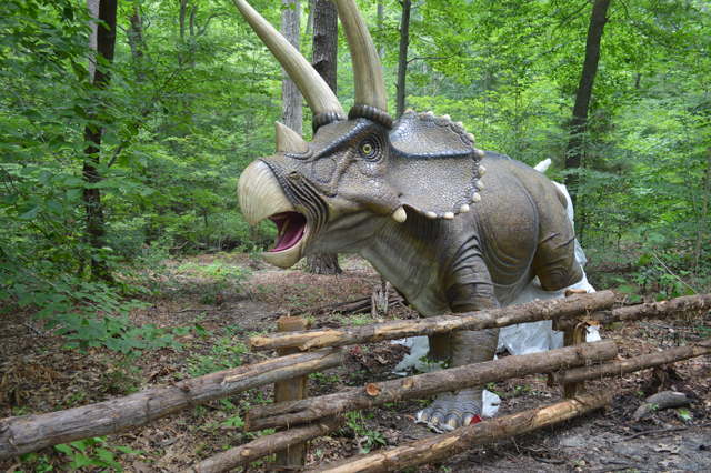 dino trail at virginia living museum